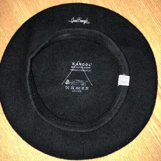 グッドイナフ(GOODENOUGH)の激レア グッドイナフxカンゴール ベレー帽 黒  クラシックロゴ KANGOL (ハンチング/ベレー帽)
