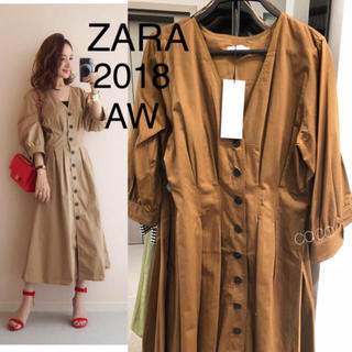 ZARA - 完売品 ザラ ザラジョ トレンチ風ワンピース ガウン ハチミツ色
