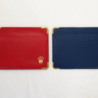 ロレックス(ROLEX)のROLEX ロレックス カードケース 赤 青 セット 純正(その他)