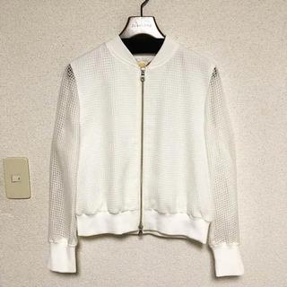 アクアガール(aquagirl)のスクエアレースジャケット ホワイト(ブルゾン)