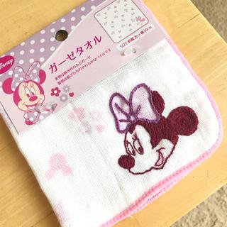 ディズニー(Disney)の手縫い ミニー ハンカチ ガーゼタオル(ハンカチ)