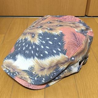 ハンチング帽  孔雀柄(ハンチング/ベレー帽)
