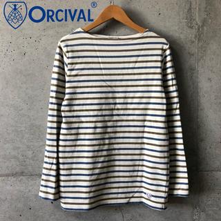 オーシバル(ORCIVAL)の【ORCIVAL】定番 ボーダーバスクシャツ 2 美品(カットソー(長袖/七分))