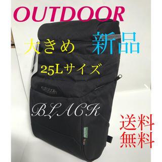 100fa6c5219b OUTDOOR - (新品)アウトドアー❣ 大きめ25Lリュック‼ クロの通販 ラクマ