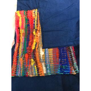 アデュートリステス(ADIEU TRISTESSE)のアデュートリステス デニム パッチワーク さおり織り ワンピース(ロングワンピース/マキシワンピース)