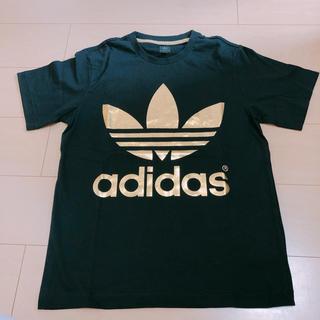 adidas - adidas originals ゴールドロゴTシャツ