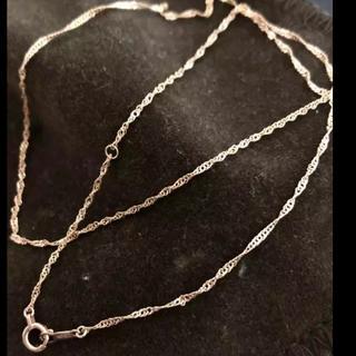 アヴァランチ(AVALANCHE)のアヴァランチ イエローゴールド10K スクリューネックレス 40cm(ネックレス)