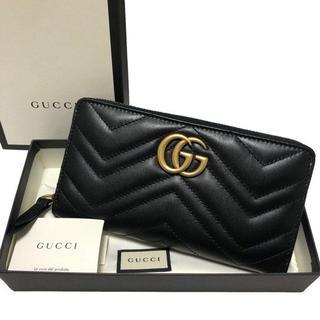 abb727b7dfdd グッチ(Gucci)のGUCCI 長財布 DRW1T 1000ブラック GGマーモント ラウンドジップ(