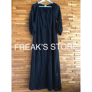 フリークスストア(FREAK'S STORE)のブラック ロングワンピースチュニック(ロングワンピース/マキシワンピース)