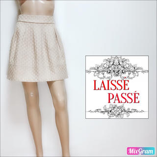 LAISSE PASSE - レッセパッセ❤美品 ぷっくりドットスカート❤リランドチュール イエナ スナイデル