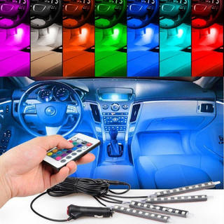 イルミネーション 防水高輝度 フルカラーRGB LEDテープライト 車内装飾用(その他)