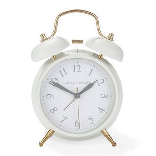 ローラアシュレイ(LAURA ASHLEY)の【新品未使用】ローラアシュレイの目覚まし時計 ホワイト(日用品/生活雑貨)