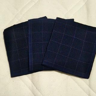 【新品】メンズハンカチ 3枚セット(ハンカチ/ポケットチーフ)