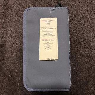 MUJI (無印良品) - 【新品】無印良品 パスポートケース クリアポケット付 グレー