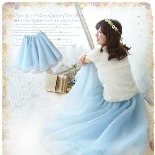 フェイバリット(Favorite)のフェイバレット☆オーガンジースカート(ひざ丈スカート)
