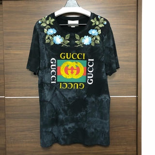 Gucci - 確実正規品  gucci エンブロイダリー ロゴtシャツ