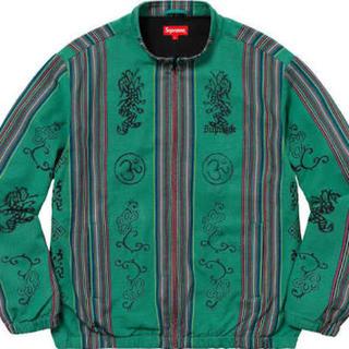 シュプリーム(Supreme)の新品 Supreme Woven Striped Batik Jacket 緑L(ブルゾン)