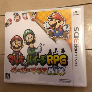 ニンテンドー3DS(ニンテンドー3DS)のNINTEND 3DS マリオ&ルイージ ペーパーマリオMIX(家庭用ゲームソフト)