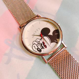 Disney - 美品☆ SPRING 付録 ミッキー BIGフェイス 腕時計 カスタマイズ品☆