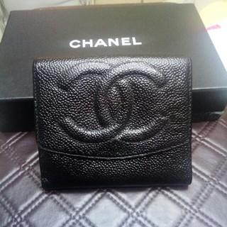 シャネル(CHANEL)の 最終お値下げ✨✨シャネルキャビアスキン ダブルホック折り財布(財布)