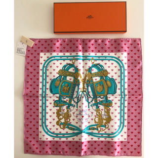 Hermes - エルメス ブリッドドゥガララヴ 45 ★ ハート柄 カレ ミニカレ