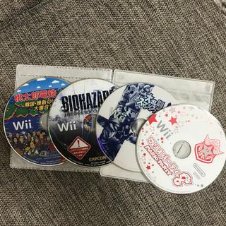 ウィー(Wii)のwii ゲームソフト 4枚セット(家庭用ゲームソフト)