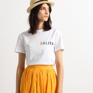 アメリカーナ(AMERICANA)のアメリカーナ フロッキーロゴTシャツ(Tシャツ(半袖/袖なし))