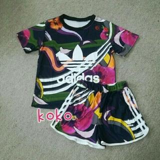 adidas - 訳あり Tシャツとショートパンツセットアップ