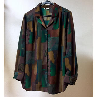 Ralph Lauren - 古着 総柄シャツ オーバーサイズ ビックシルエット  オープンカラーシャツ