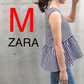 ZARA - ZARA 裾フリル フリル トップス ノースリーブ