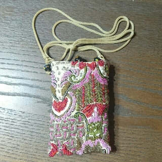 インドネシア 携帯ポシェット ピンク(バッグ)