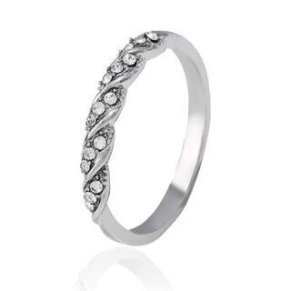 【新品】指輪 デザインリング キュービックジルコニア シルバー 18号(リング(指輪))