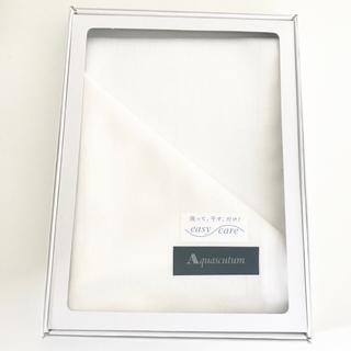 アクアスキュータム(AQUA SCUTUM)の新品 アクアスキュータム ノンアイロンハンカチ 白 ホワイト(ハンカチ/ポケットチーフ)