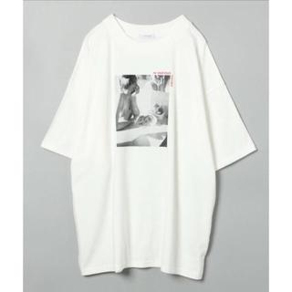 JEANASIS ビッグフォトプリント Tシャツ オフホワイト