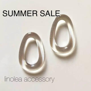 SUMMER SALE❤︎clearオーバルピアス