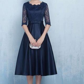 【完売必至】刺繍ドレス パーティードレス ワンピース 結婚式 二次会 謝恩会