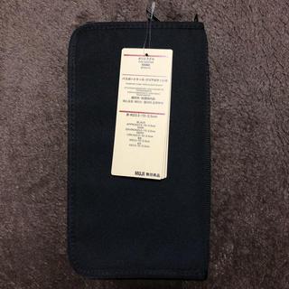 ムジルシリョウヒン(MUJI (無印良品))の【新品】無印良品 パスポートケース クリアポケット付 ブラック 黒(日用品/生活雑貨)