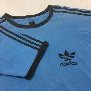 アディダス(adidas)のadidas ラグランTシャツ 青(Tシャツ/カットソー(半袖/袖なし))