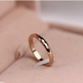 【新品】特価 デザインリング 指輪 チタン 15.5号 (リング(指輪))