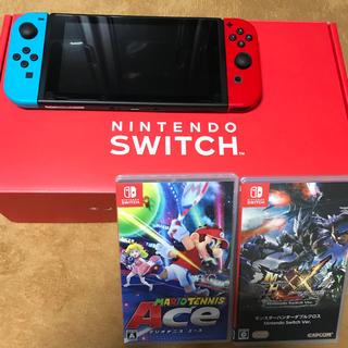 ニンテンドースイッチ(Nintendo Switch)のswitch マリオテニスエース モンハンセット(家庭用ゲーム本体)