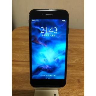 アイフォーン(iPhone)のiphone 7 jet black 128g simフリー(スマートフォン本体)