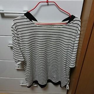 しまむら - 大きいサイズ ボーダーTシャツ