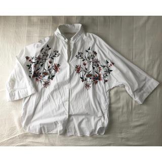 ZARA - ZARA ザラ 花柄刺繍シャツ
