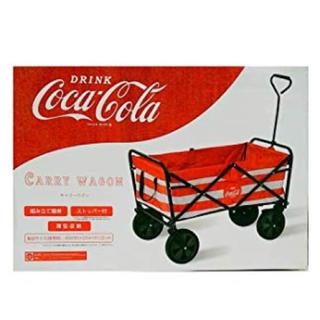 コカ・コーラ - 【希少】コカ・コーラ キャリーワゴン  (赤×白)   星条旗 薄型収納 最安値
