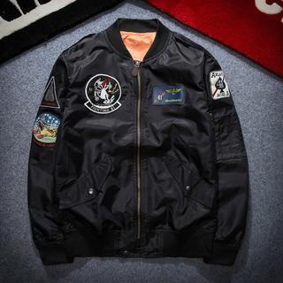 メンズ MA-1 ジャケットジャンバースターウォーズワッペン(ミリタリージャケット)