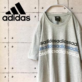 アディダス(adidas)の【大人気】 アディダス adidas ビッグプリント ビッグロゴ Tシャツ 無地(Tシャツ/カットソー(半袖/袖なし))