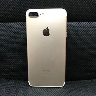 アイフォーン(iPhone)の超美品シムフリーiphone 7plus 128gb ゴルドー(スマートフォン本体)
