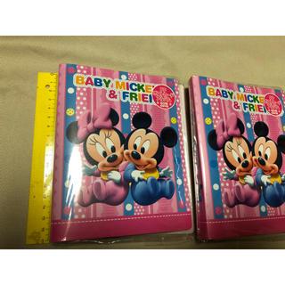 ディズニー(Disney)のベビーミッキー&フレンズ  アルバム  ポストカード/写真ケース  新品2冊で(アルバム)