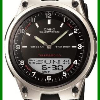 ■CASIO スタンダード 腕時計  AW-80-1AJF ■(ラバーベルト)