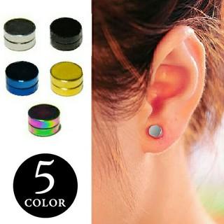 片耳用シンプルマグネットピアス フェイクピアス accessory-49-虹(ピアス(片耳用))